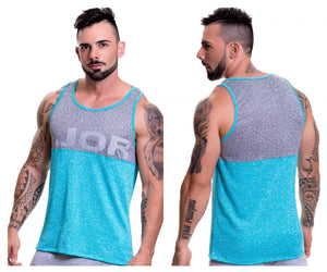 0519 Play Tank Top Color Turquoise