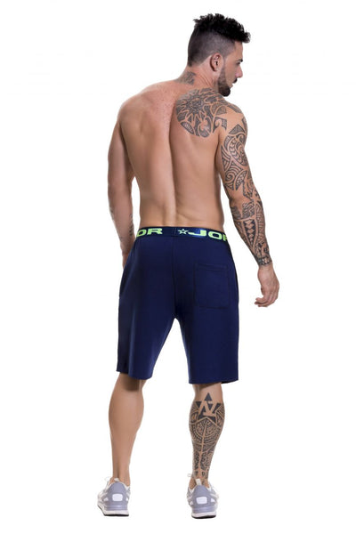 0520 Match Athletic Shorts Color Blue