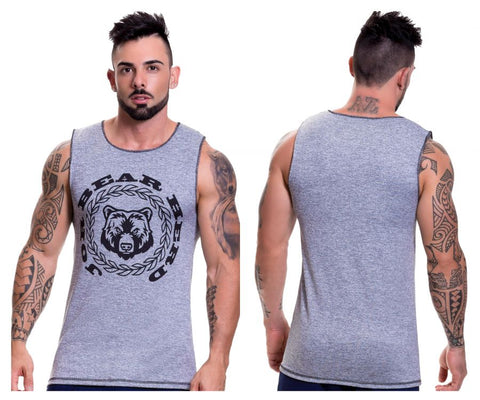 0521 Animal Tank Top Color Gray