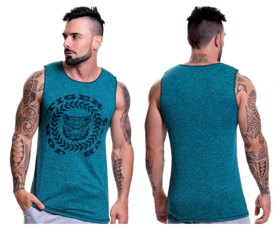 0521 Animal Tank Top Color Green