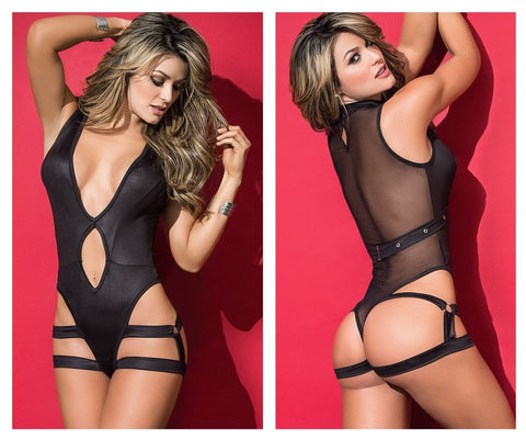 2500 Bodysuit With Harness Color Black