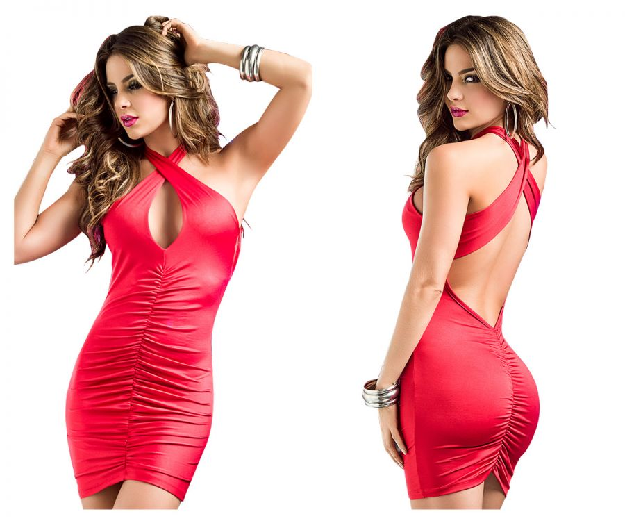 4199 Dress Color Red
