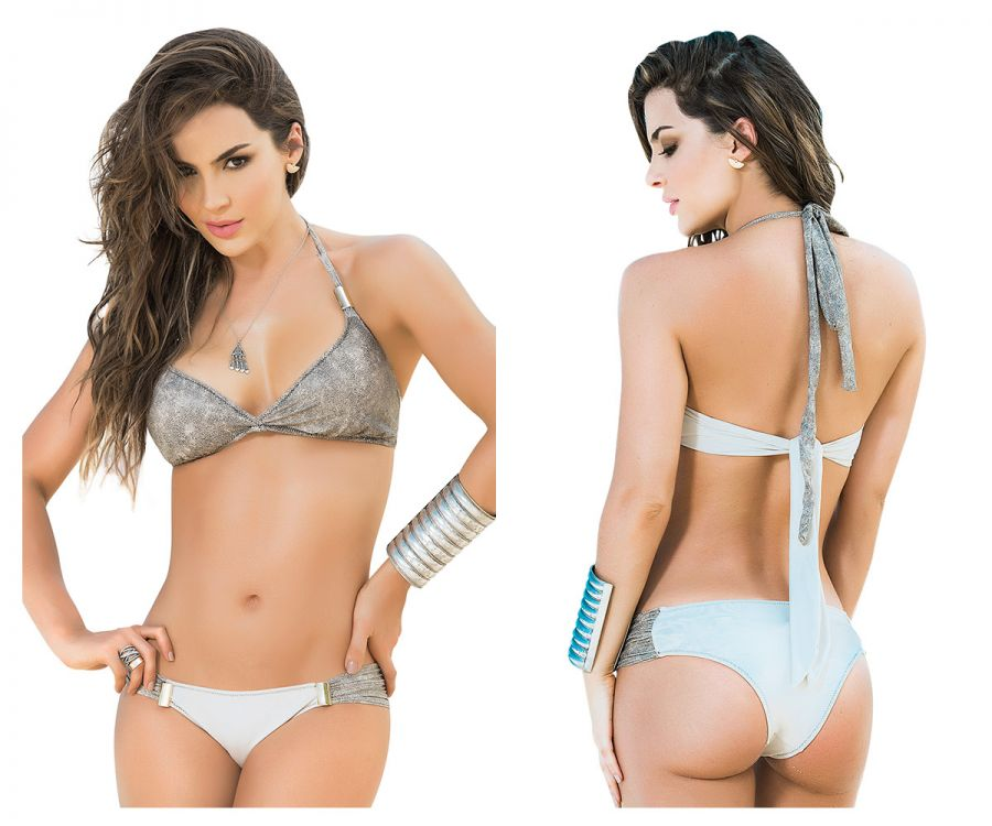 6834 Two Piece Swimsuit Color Beige