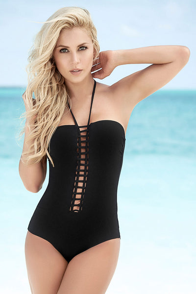6870 One Piece Swimsuit Color Black