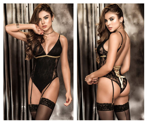 8270 Teddy with Garters Color Black
