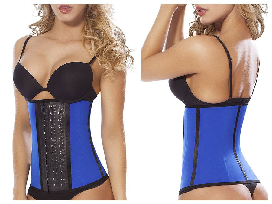 8031 Workout Waist Cincher Color Blue
