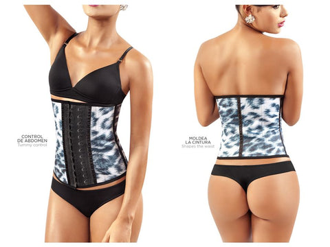 8032 Workout Waist Cincher Color Gray