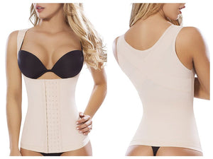 8036 Control Body Shaper Vest Color Beige