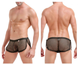 PQ170401-1 Strip Shorts Boxer Briefs Color Black