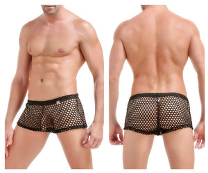 PQ170401 Strip Shorts Boxer Briefs Color Black