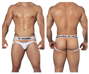 PIK 9261 Hoops Jockstrap Color White