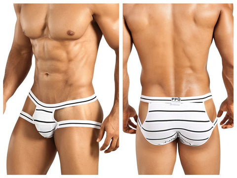 1235 Brief Color White-Black