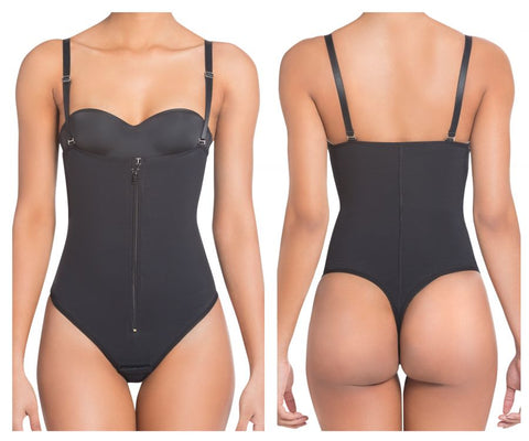 1003 High Compression Thong Strapless Shapewear Color Black