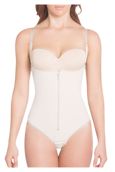 1003 High Compression Thong Strapless Shapewear Color Nude