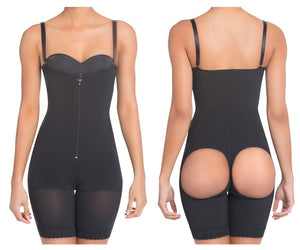1009 High Compression Derriere Lift Mid-Thigh Shaper Color Black