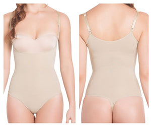 TF933T Light Compression Thong Style Braless Body Color Nude
