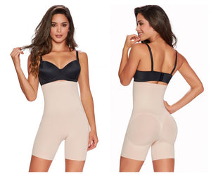 1231 High-Waisted Mid-Thigh Short Color Beige