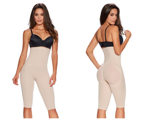 1233 Hi-Waist Thigh Slimmer Color Beige