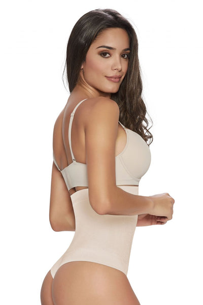 1277 Thong Firm Control Hi-Waist Cincher Color Beige