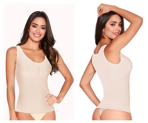 1354 Tummy Smoothing Tank Color Beige