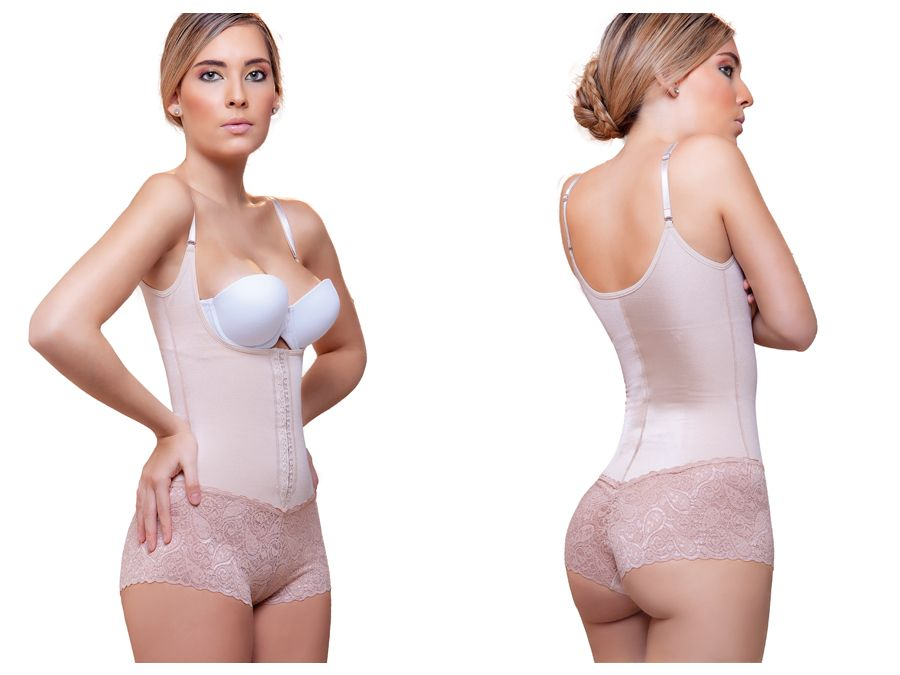 907 Victorie  Sexy Shapewear w/ Lace Boyshort Color Nude