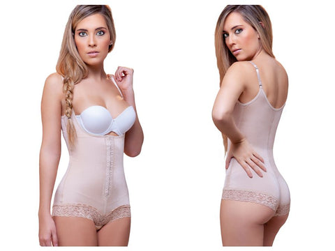 909 Liana Sexy Waist Nipper Shapewear w/ Front Closure Color Nude