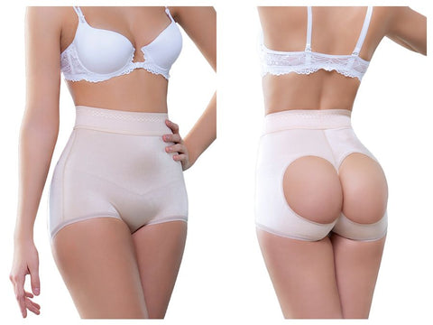 910 Joane High Waist Open Bottom Enhancer Color Nude
