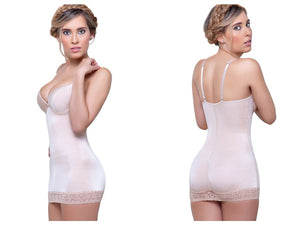 917 Abella Shaping Skirt Bodysuit w/ Bra Color Nude