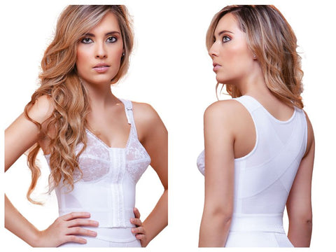 920 Tatiana Front Close Longline with Back Support Bra Color White