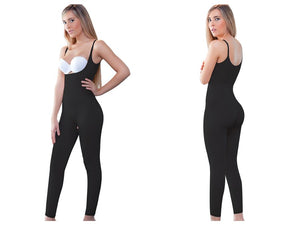933 Ann Long Leg Body Shaper Color Black