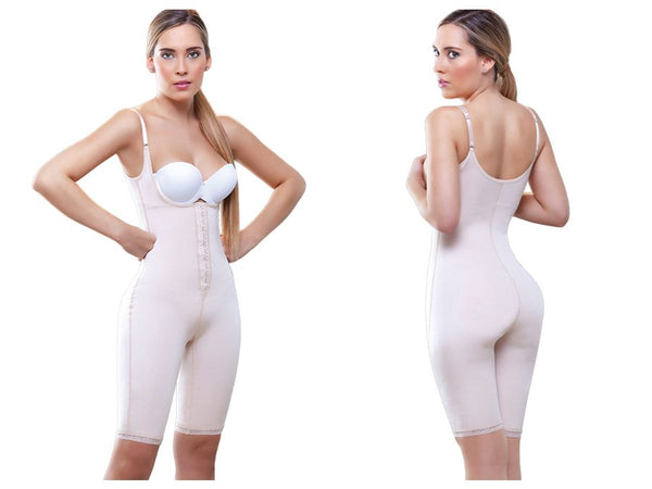 934 Madeline Long Leg Control Shapewear w/ Front Closure Color Nude