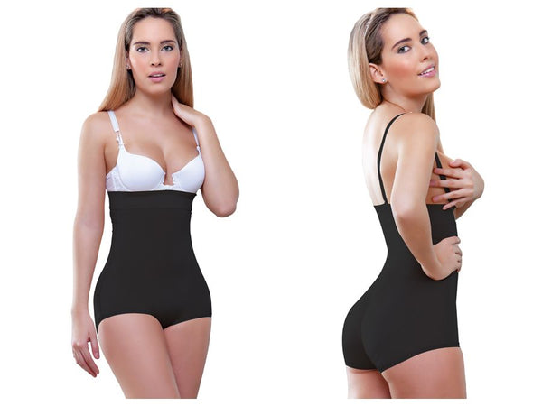 935 Gina Strapless Hip Hugger Shapewear Color Black