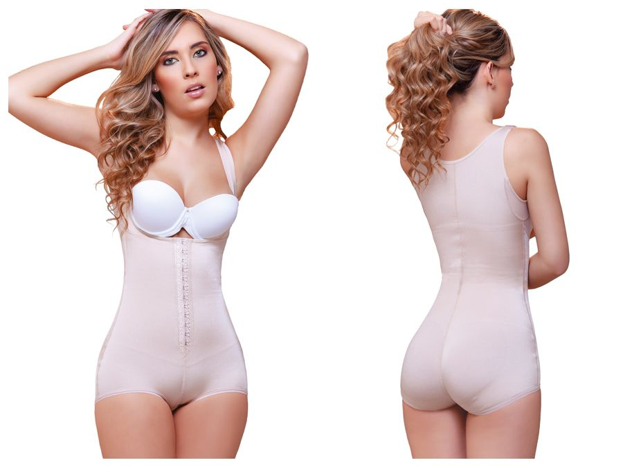 936 Ariana High Back Wide Strap Shapewear Color Nude
