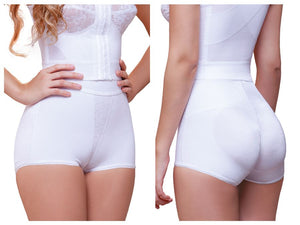 937 Tatiana Highwaist Hip Hugger Panty Enhancer Color White