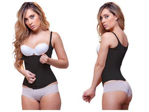 940 Candice Double Layer Waist Cincher w/ Zipper Color Black