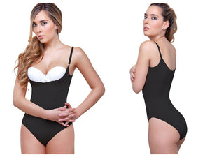 942 Carine Underbust Booster Bodysuit in Bikini Color Black