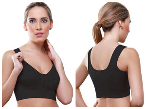 943 Cristie Front Close Soft Cup Bra Color Black