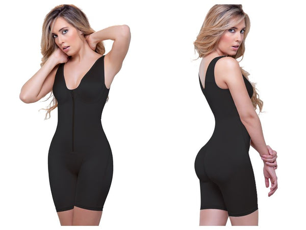 944 Celeste Front Zipper Compression Garment Color Black