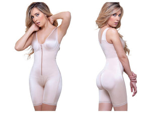 944 Celeste Front Zipper Compression Garment Color Nude