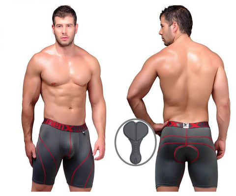 51371 Cycling Padded Boxer Briefs Color Gray