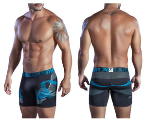 51400 Printed Microfiber Boxer Briefs Color Black
