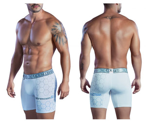 51402 Printed Microfiber Boxer Briefs Color White