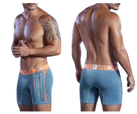 51404 Sports Microfiber Boxer Briefs Color Gray