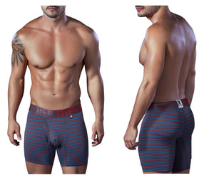 51405 Microfiber open fly Boxer Briefs Color Gray-Red