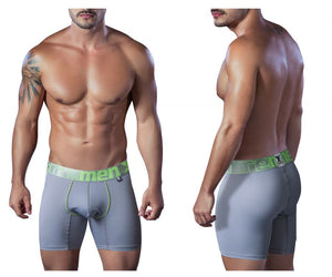 51407 Microfiber Breathable Boxer Briefs Color Gray