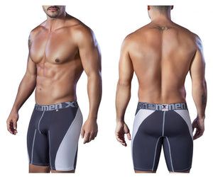 51408 Sport Performance Breathable Boxer Briefs Color Gray-White