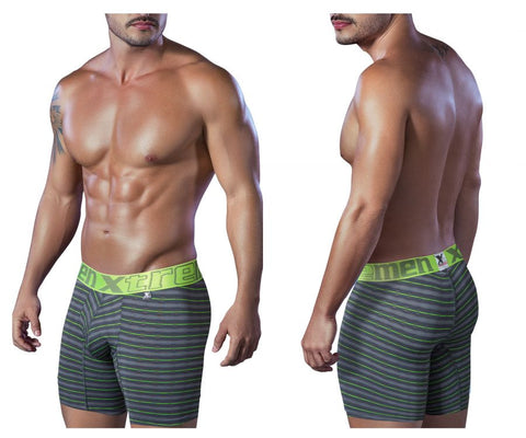 51410 Sport Performance Breathable Boxer Briefs Color Gray