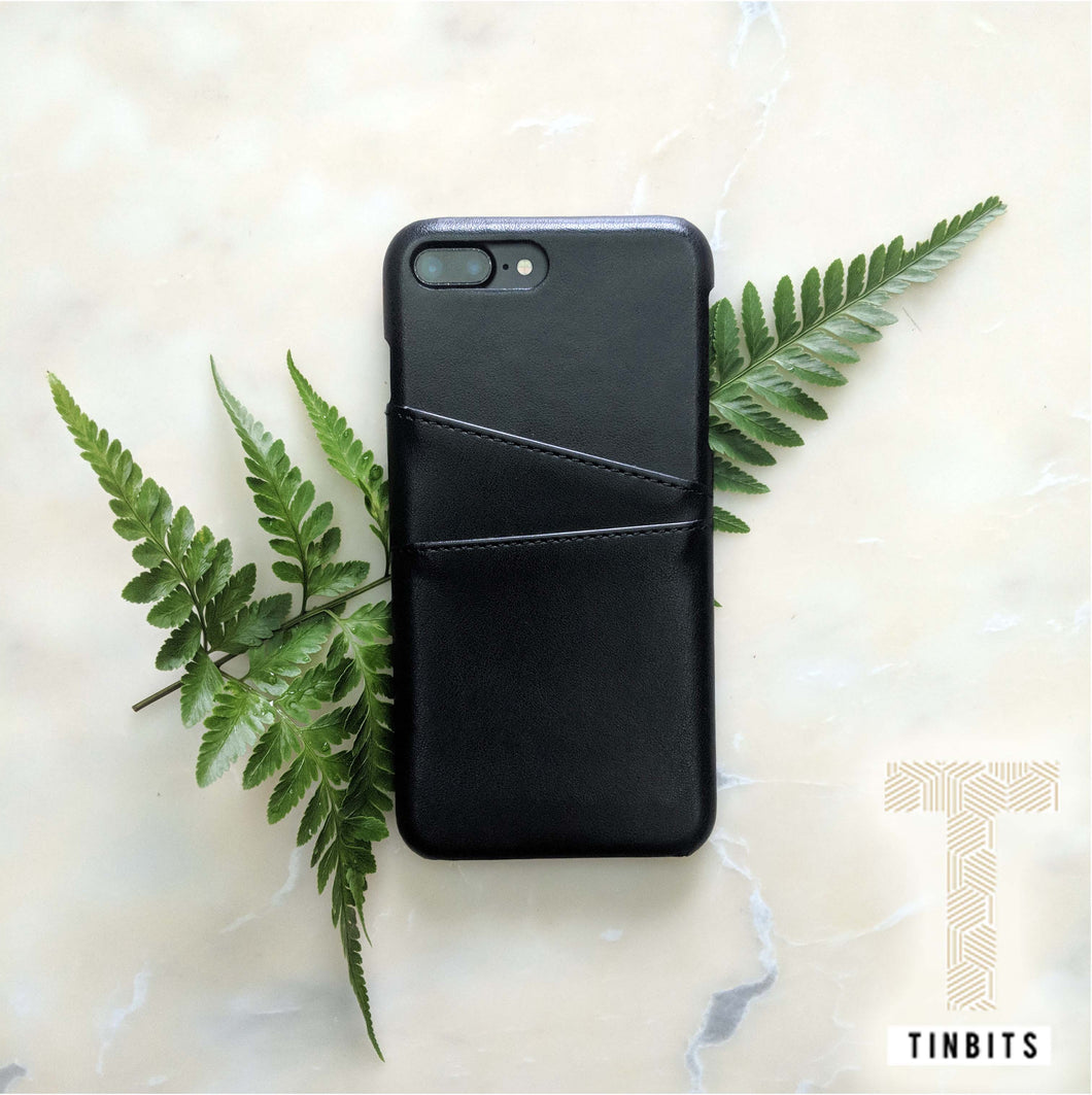 Black Leather iPhone Case
