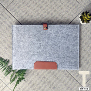 Grey Felt Macbook Sleeve