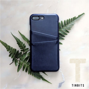 Navy Leather iPhone Case
